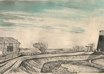 The Broads, Norfolk - walk 1 #77 - mixed media drawing