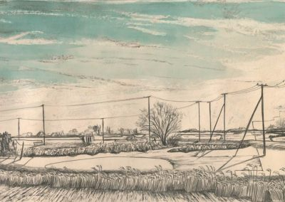 The Broads, Norfolk - walk 1 #85 - mixed media drawing