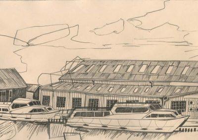 The Broads, Norfolk - walk 2 #02 - mixed media drawing