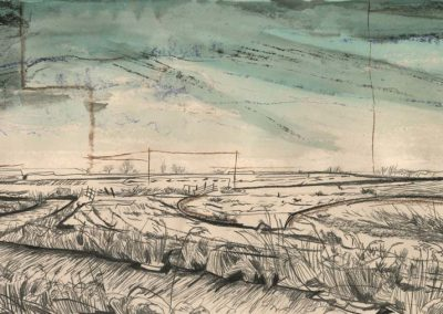 The Broads, Norfolk - walk 2 #05 - mixed media drawing