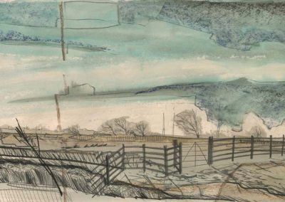The Broads, Norfolk - walk 2 #06 - mixed media drawing