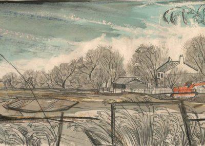 The Broads, Norfolk - walk 2 #08 - mixed media drawing