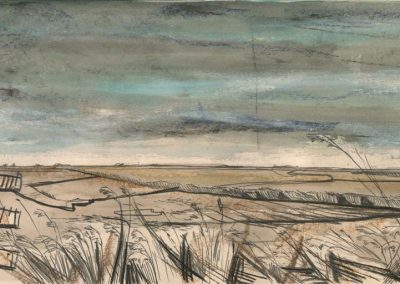 The Broads, Norfolk - walk 2 #09 - mixed media drawing