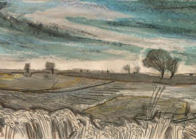 The Broads, Norfolk - walk 2 #11 - mixed media drawing