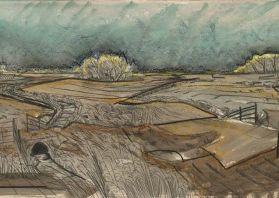 The Broads, Norfolk - walk 2 #12 - mixed media drawing