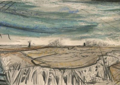 The Broads, Norfolk - walk 2 #14 - mixed media drawing