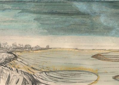 The Broads, Norfolk - walk 2 #15 - mixed media drawing