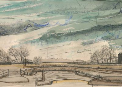 The Broads, Norfolk - walk 2 #16 - mixed media drawing