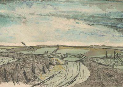 The Broads, Norfolk - walk 2 #24 - mixed media drawing