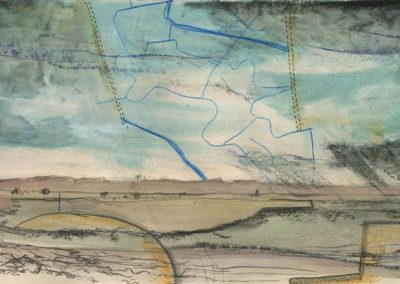 The Broads, Norfolk - walk 2 #26 - mixed media drawing