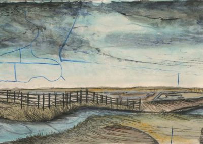 The Broads, Norfolk - walk 2 #27 - mixed media drawing