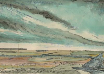 The Broads, Norfolk - walk 2 #29 - mixed media drawing