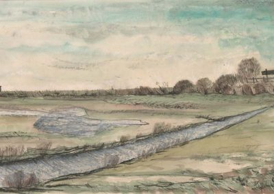 The Broads, Norfolk - walk 2 #43 - mixed media drawing