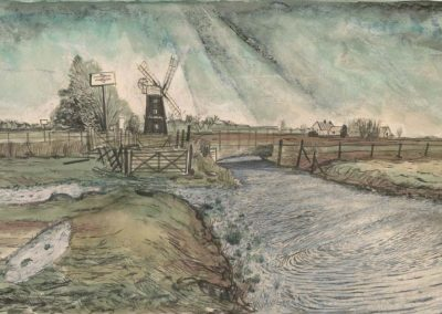 The Broads, Norfolk - walk 2 #44 - mixed media drawing