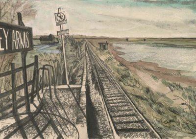 The Broads, Norfolk - walk 2 #47 - mixed media drawing
