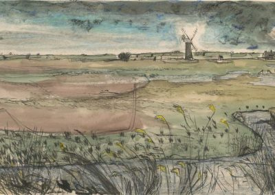 The Broads, Norfolk - walk 2 #48 - mixed media drawing