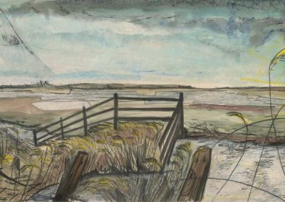 The Broads, Norfolk - walk 2 #50 - mixed media drawing