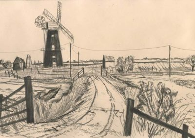 The Broads, Norfolk - walk 2 #52 - mixed media drawing