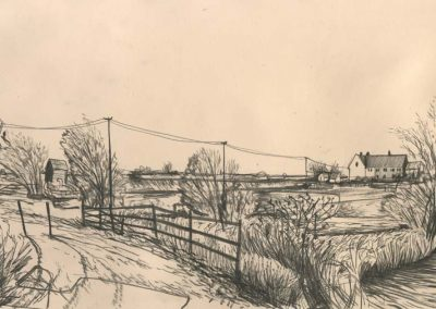 The Broads, Norfolk - walk 2 #55 - mixed media drawing