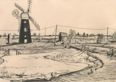 The Broads, Norfolk - walk 2 #56 - mixed media drawing