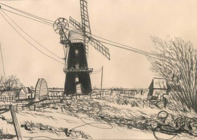 The Broads, Norfolk - walk 2 #60 - mixed media drawing