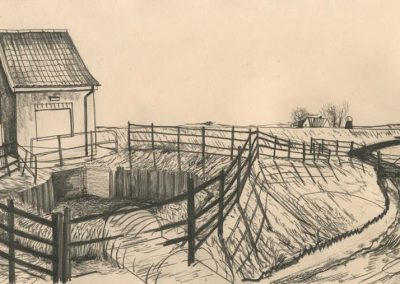The Broads, Norfolk - walk 2 #62 - mixed media drawing