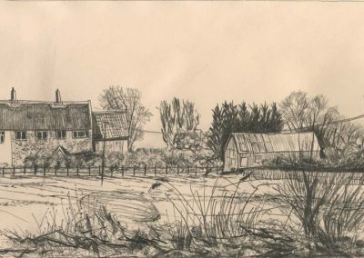 The Broads, Norfolk - walk 2 #63 - mixed media drawing