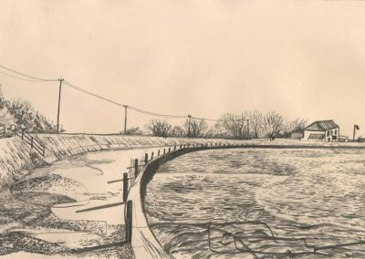 The Broads, Norfolk - walk 2 #64 - mixed media drawing
