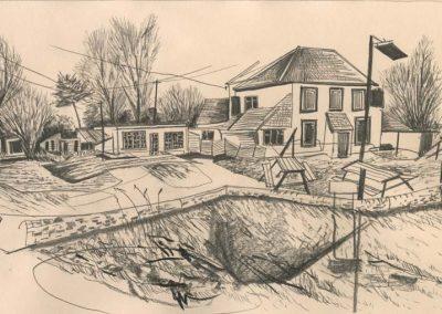 The Broads, Norfolk - walk 2 #65 - mixed media drawing