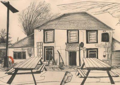 The Broads, Norfolk - walk 2 #67 - mixed media drawing