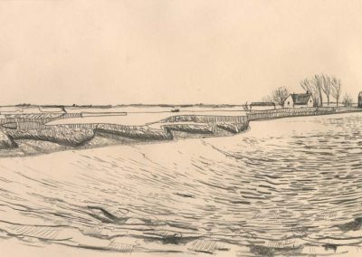 The Broads, Norfolk - walk 2 #68 - mixed media drawing
