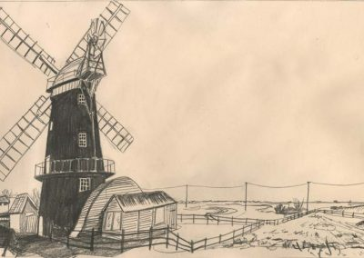 The Broads, Norfolk - walk 2 #69 - mixed media drawing