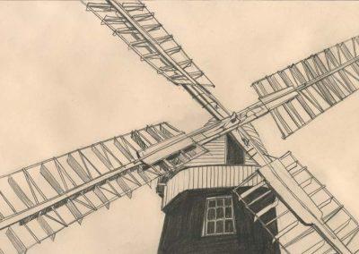 The Broads, Norfolk - walk 2 #72 - mixed media drawing