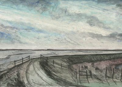 The Broads, Norfolk - walk 3 #04 - mixed media drawing