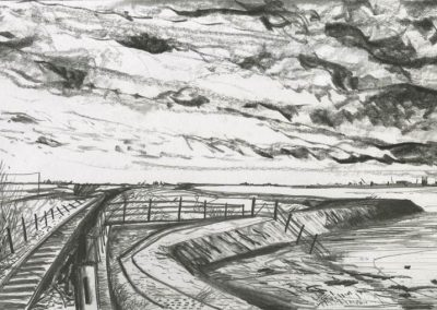 The Broads, Norfolk - walk 3 #08 - mixed media drawing