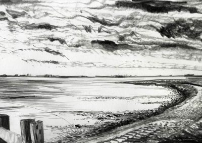 The Broads, Norfolk - walk 3 #09 - mixed media drawing