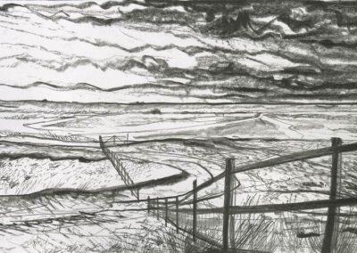 The Broads, Norfolk - walk 3 #13 - mixed media drawing