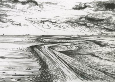The Broads, Norfolk - walk 3 #14 - mixed media drawing