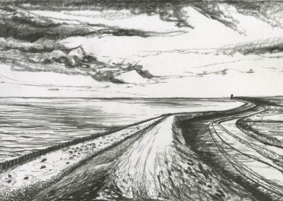 The Broads, Norfolk - walk 3 #18 - mixed media drawing