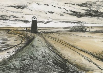 The Broads, Norfolk - walk 3 #21 - mixed media drawing
