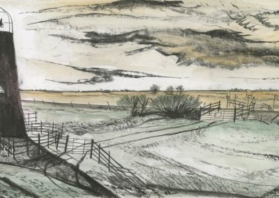 The Broads, Norfolk - walk 3 #23 - mixed media drawing