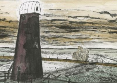 The Broads, Norfolk - walk 3 #24 - mixed media drawing