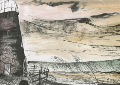The Broads, Norfolk - walk 3 #27 - mixed media drawing