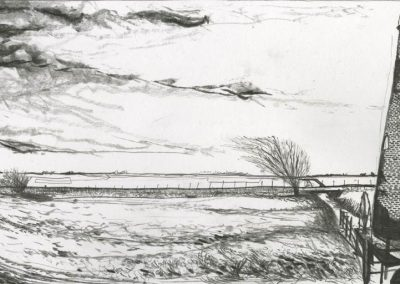 The Broads, Norfolk - walk 3 #31 - mixed media drawing