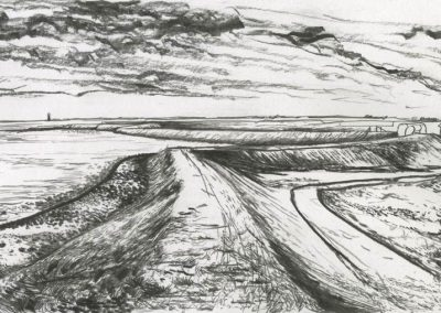 The Broads, Norfolk - walk 3 #32 - mixed media drawing