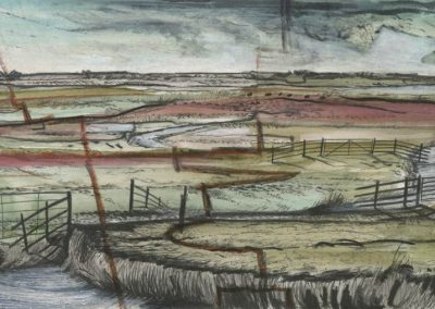 The Broads, Norfolk - walk 3 #44 - mixed media drawing