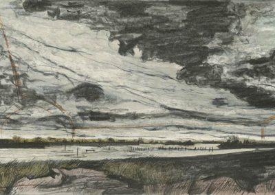 The Broads, Norfolk - walk 3 #49 - mixed media drawing