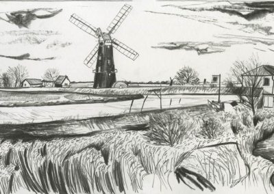 The Broads, Norfolk - walk 3 #50 - mixed media drawing
