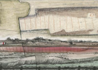 The Broads, Norfolk - walk 3 #57 - mixed media drawing
