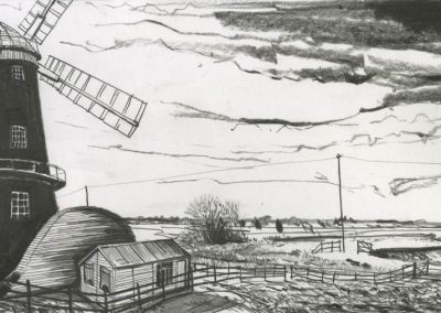 The Broads, Norfolk - walk 3 #58 - mixed media drawing